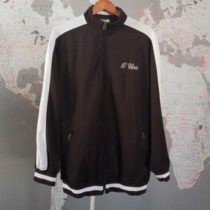 G-Unit Chocolate Brown Jacket front Zipper Large.
